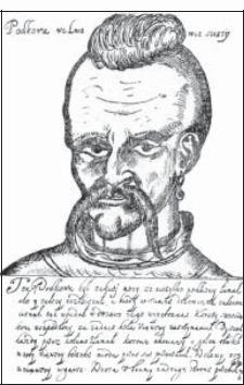 Портрет Никоарэ Подкова, помещенный в один изпольских источников начала XVII века.