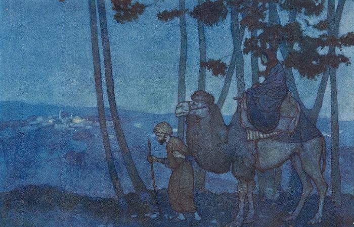 Чаще всего в сказках сборника встречается как герой странствующий купец. Иллюстрация Эдмунда Дюлака.